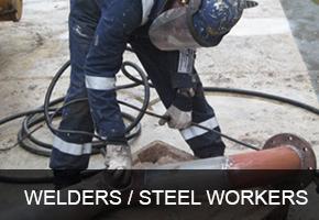 Welders, Platters, Pipe Fitters, Torch Cutters
